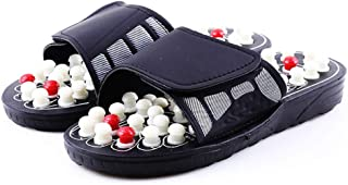 Massage Slippers for Women Men Massage Sandals Shoes To Reduce Foot Pain Cobblestone Feet Sole Point Massage (Color : A, Shoe Size : 42)