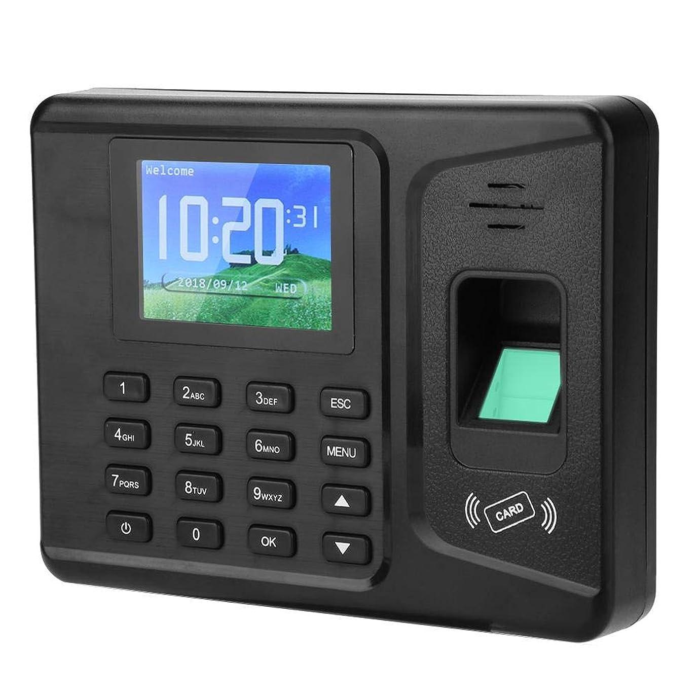 上院議員パッド郵便指紋レコーダー 指紋出席機械 指紋認証 2.8インチカラー従業員給与レコーダー機 アクセス管理 スタッフの管理器(US プラグ)