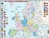 Larsen K63 Rahmenpuzzle 'Europa & Europäische Union' 70 Teile