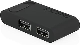 USB-C Dual Port Adapter, Incipio [Portable] [Multi Functional] USB-C Dual Port Adapter - Black