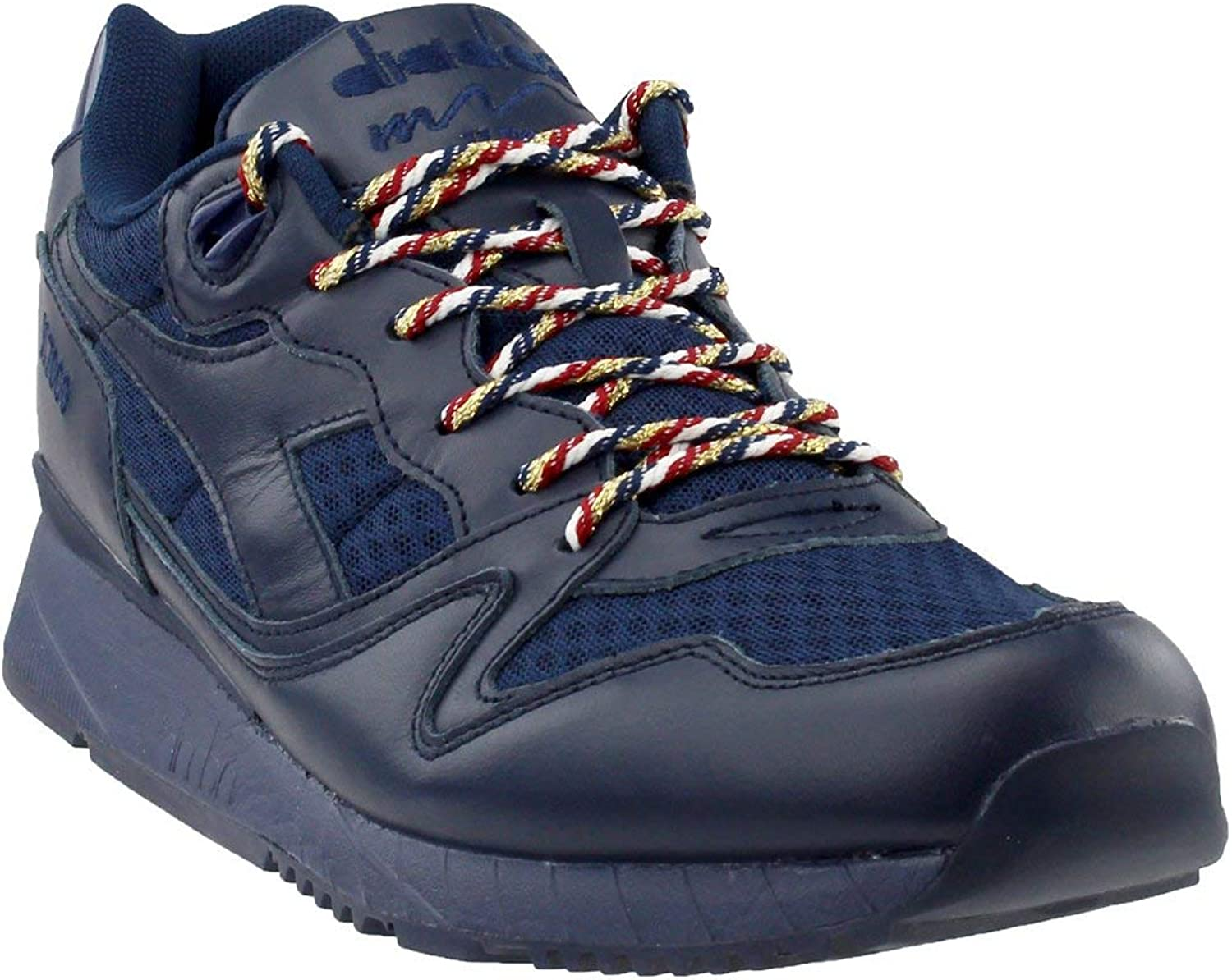 Diadora V7000 USA Mens bluee Leather Lace Up Sneakers shoes