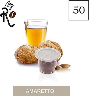 FRHOME - 50 Cápsulas de Café compatibles Nespresso - Café aroma de Amaretto - MyRistretto