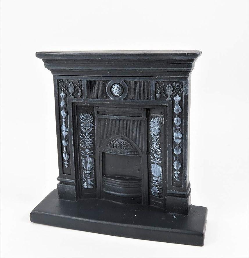麻酔薬めったにシットコム人形の家ビクトリア朝の鋳鉄の暖炉のミニチュア1:12スケールの樹脂の家具