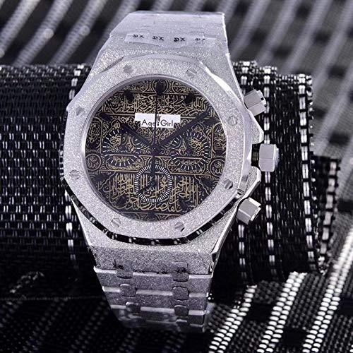 HHBB Marca de lujo reloj cronógrafo zafiro acero inoxidable plata mate cronómetro luminoso deportes Aaa+ Braze