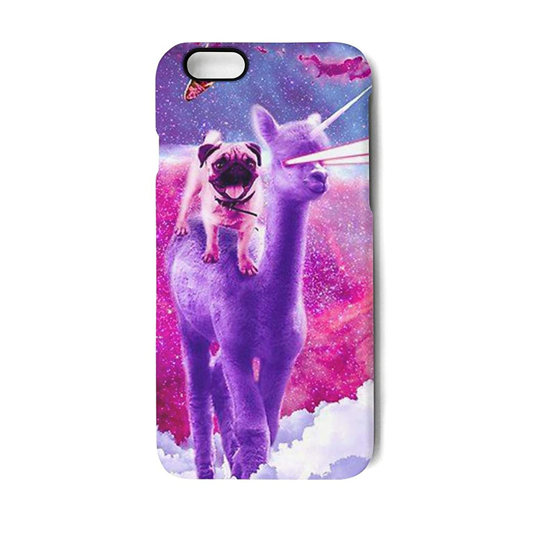 Fun iPhone 7/8 Cell Phone case Pug Riding Laser Llama Unicorn iPhone 7 Protector Cool iPhone 8 case