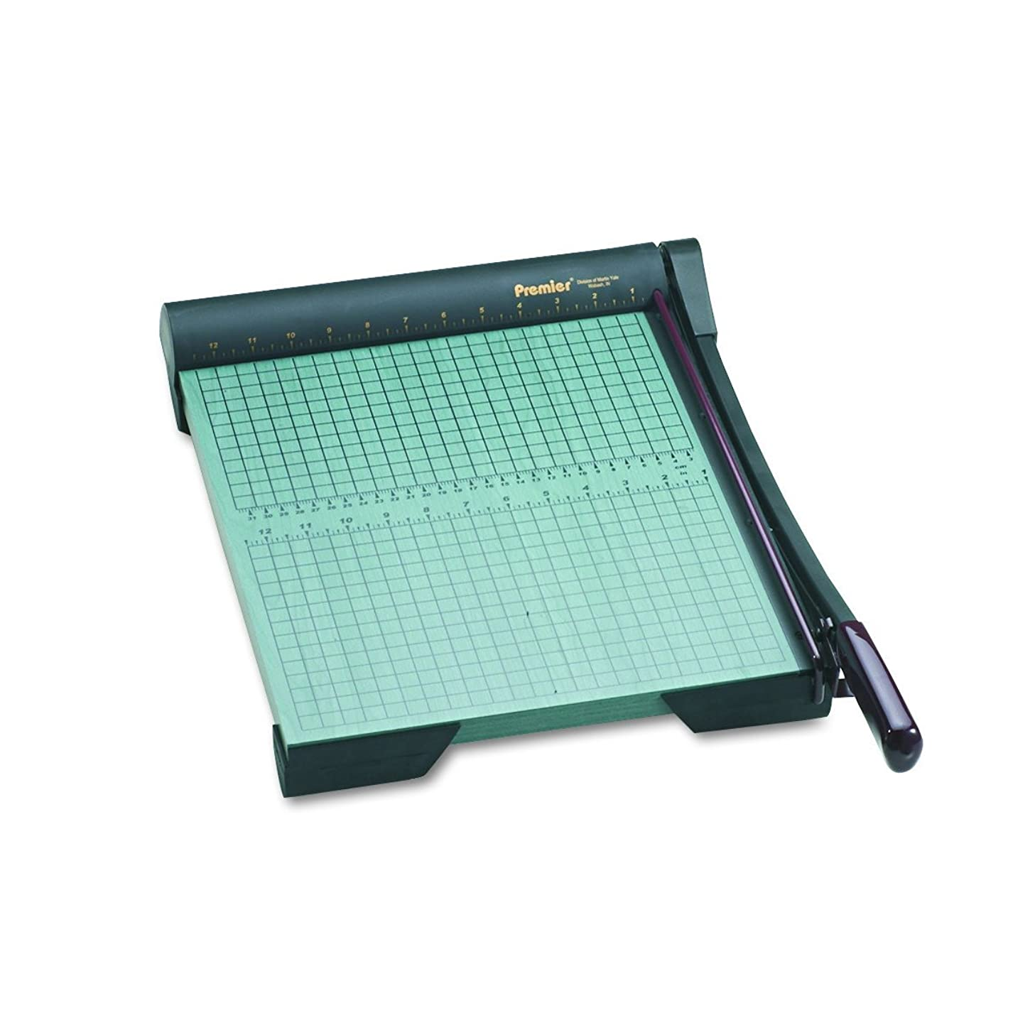 Martin Yale W15 Premier Heavy-Duty Green Board Wood Trimmer, Cut Up To 20 Sheets at One Time, Steel Blades, 15 Inches