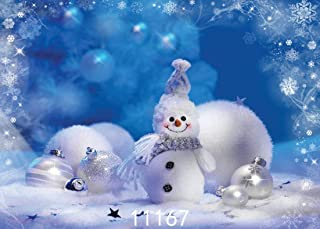 AIIKES 7X5FT Holiday Christmas Background Photography Winter Snow Scenery Snowman Backdrops Merry for Home Party Decoration Photo Booth Studio Prop 11-167