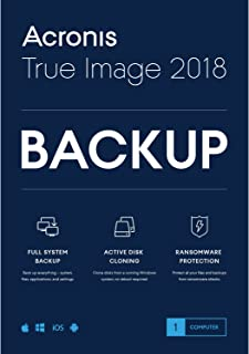 Acronis True Image 2018 Backup Software
