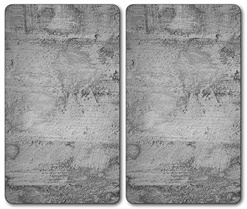 Ceranfeldabdeckung 80x52 cm Nudeln Gelb Herdabdeckplatten Spritzschutz Glas Deko