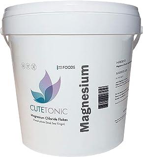 Cutetonic® Hojas de cloruro de magnesio (Magnesium Chloride Flakes) ultra puro, origen del mar muerto (2KG)