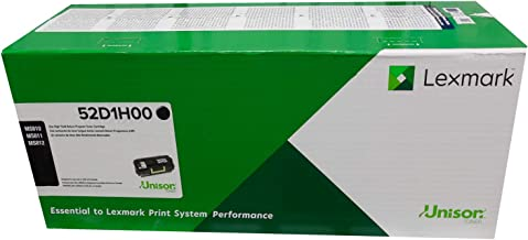 Genuine Original Lexmark Brand 521H High Yield Toner Cartridge (52D1H00). 25,000 Pages. For: MS710dn/MS710n/MS711dn/MS810de/MS810dn/MS810dtn/MS810n/MS811dn/MS811dtn/MS811n/MS812de/MS812dn/MS812dtn.