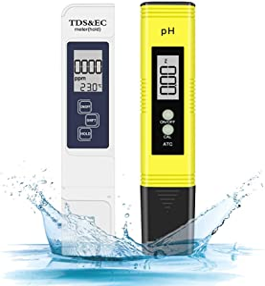 Eletorot Medidor de PH Medidor de Prueba de Calidad del Agua PH y TDS 4 en 1 Medidor tds para Acuarios Medidor ph Agua, Piscina, Jardín