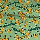 Stoffe Werning Baumwolljersey Lizenzstoff Garfield Pfoten