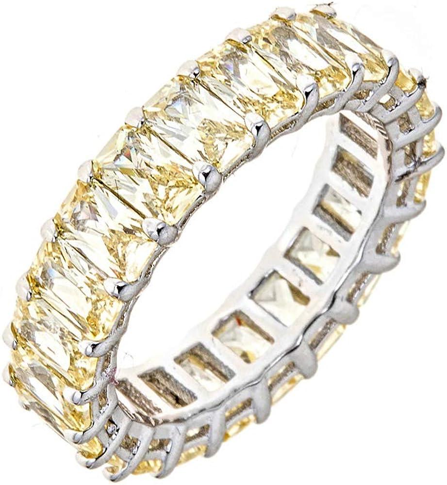 Maya J Eternity Ring - Emerald-Cut with Gemst 保障 Fashioned Artisan ◇限定Special Price
