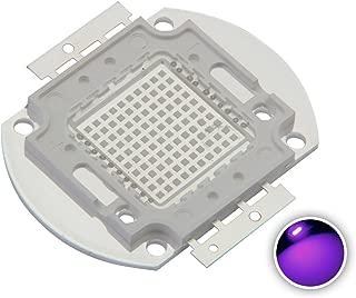 Chanzon High Power Led Chip 100W Purple Ultraviolet (UV 365nm / 3000mA / DC 30V-34V / 100 Watt) SMD COB Light Emitter Components Diode 100 W Ultra Violet Bulb Lamp Beads DIY Lighting