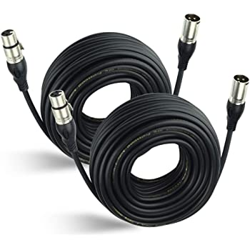 Male to Female Cable Patch Cord XLR Male to Microphone Audio Cable XLR Balanced Line Ridecle Female Cable