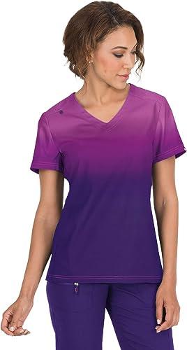 KOI Lite Zip Pocket Ombre Reform Scrub Top for Women