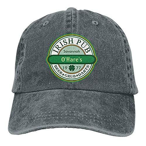 chipo Strapback Hat Unisex Irish Pub para Personalizar la Gorra de béisbol Chic Trucker Hats Vintage Denim Ajustable