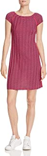 Three Dots Womens Chevron Striped Casual Dress