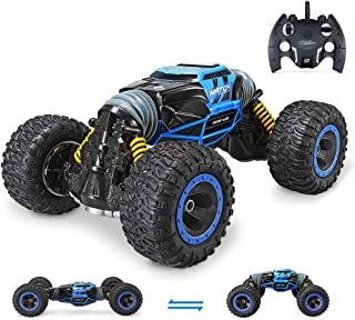 Jasonwell 1:10 RC Car Remote Control Cars for Kids 4WD Off Road Vehicle Rock Crawler 2.4Ghz Rechargeable Monster Truck Dual Motors Buggy Hobby Racing Car Toys Gifts Boys Girls 6 7 8 9 10 12 Year Old