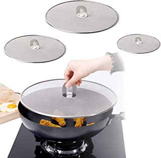 Splatter Screen for Frying Pan, 3 Pcs Grease Splatter Splash Guard for Frying Pan Cover Grease Splatter Screen Oil Splatte...