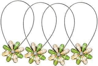 Sycle circle 4 Pack Magnetische Gordijn Tie Backs, Decoratieve Crystal Gordijn Holdbacks voor Slaapkamer, Woonkamer, Kanto...