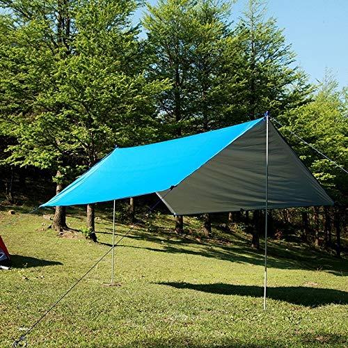 chinawh Zeltzubehör Multi-Funktions-Outdoor-wasserdichte Sonnenschutz Strand Markise Zelt Sun Shelter Pergola (Color : Blue)