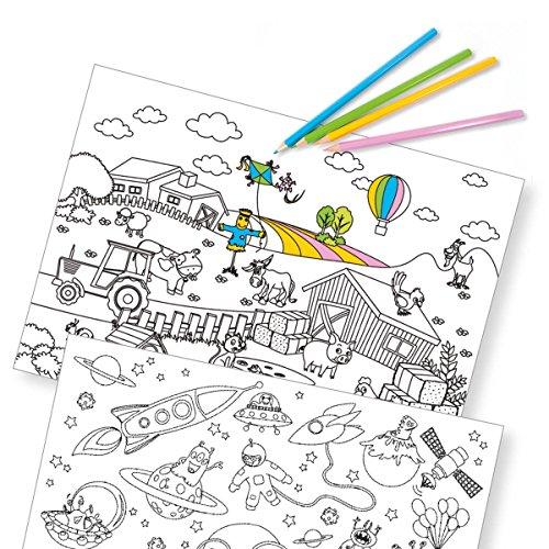 corpus delicti :: Papier-Tischsets – praktische Platzsets als Abreißblock für Kinder zum Ausmalen – Kids Fun – Color ME