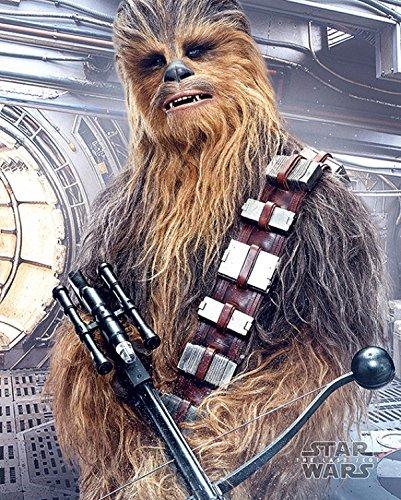 1art1 Star Wars - Episode VIII Die Letzten Jedi Chewbacca Bowcaster Mini-Poster 50 x 40 cm
