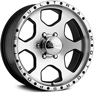 Ultra Wheel 175U Rogue Diamond Cut Face with Gloss Black Accents Wheel with Painted Finish (17 x 8. inches /6 x 139 mm, 10 mm Offset)