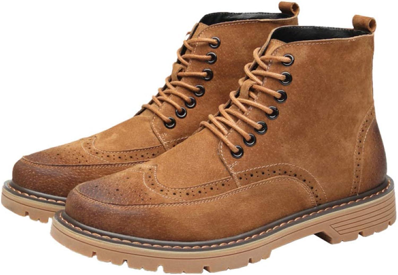 WEGCJU Waterproof Military Boots Chukka Men's Martin Boots Wear Hiking shoes Chelsea Desert Boots Slip High Help