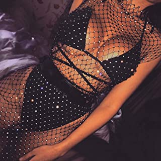 Nicute Sexy Rhinestone Body Chain Black Skirt Chains Club...