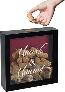 Americanflat 8x8 Inch Uncork & Unwind Shadow Box Frame, Wine Lovers Gift