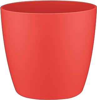 elho Brussels Maceta Redonda, Rojo (Poppy Red), 11 x 11 x 9.6 cm