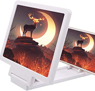 3D Foldable Amplifier Protect Screen Magnifier with Stand Holder (White)