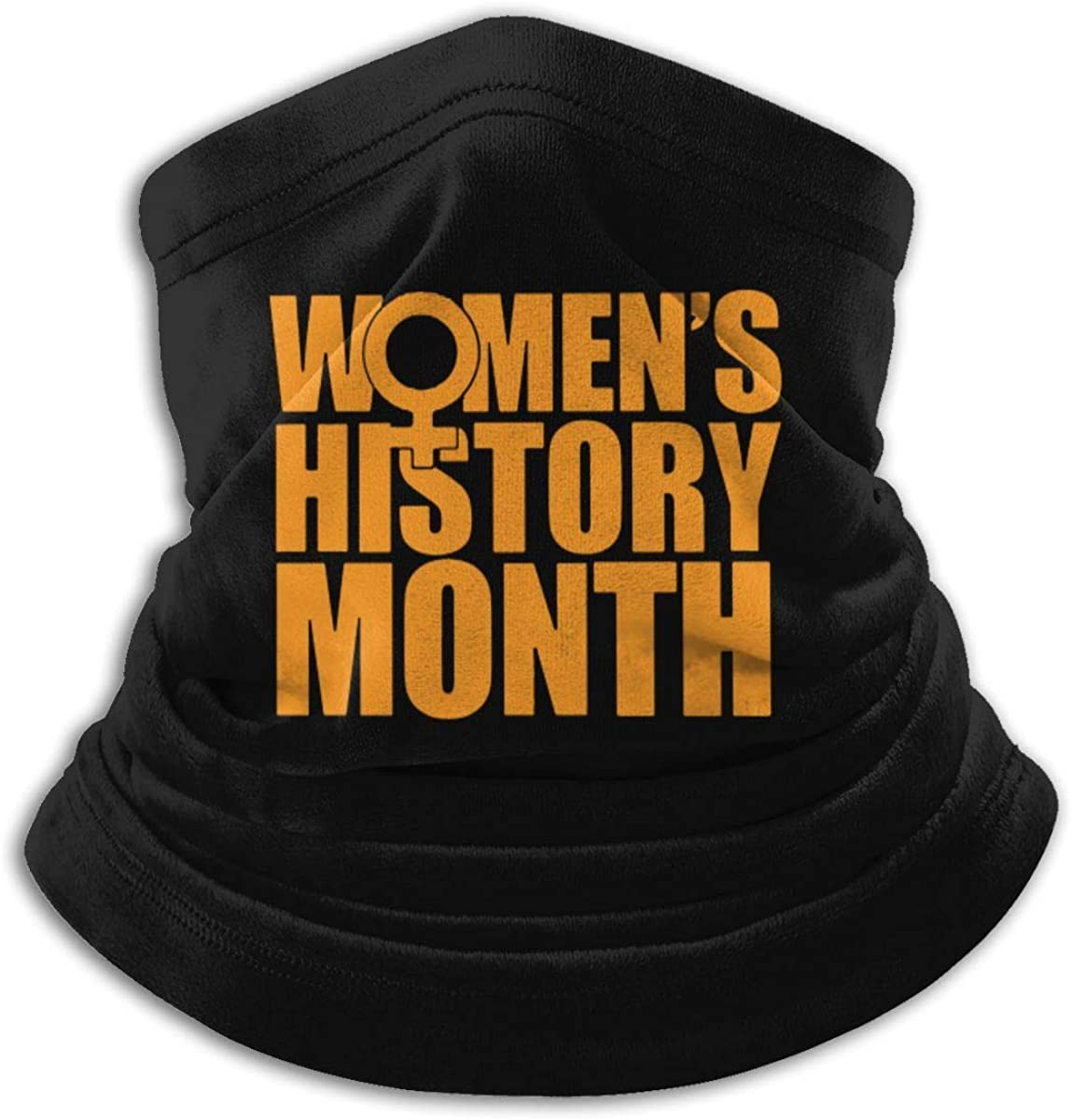 Women's History Month Black Multi-function Neck Warmer Gaiter Polyester Neck Warmer Windproof Winter Neck Gaiter Cold Weather Scarf For Men Women