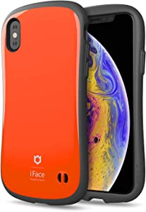 iFace First Class Designed for iPhone X/XS – Cute Shockproof Dual Layer [Hard Shell + Bumper] Phone Case [Drop Tested] - Orange