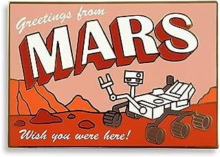 Mars Rover Postcard Enamel Lapel Pin
