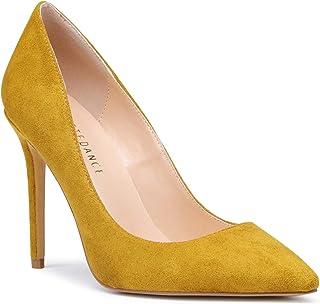 5d17abdd93 SUNETEDANCE Womens Slip On Pumps Comfort Classic High Heels Pointy Toe Sexy  Elegant Stiletto Heels 10CM