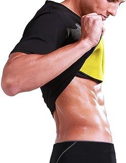 Mens Body Shaper T-shirt Slimming Fitness Shapewear Neoprene Sweat Sauna Waist Gyms Corset Sports T-shirts YJXUSHYQ (Color...