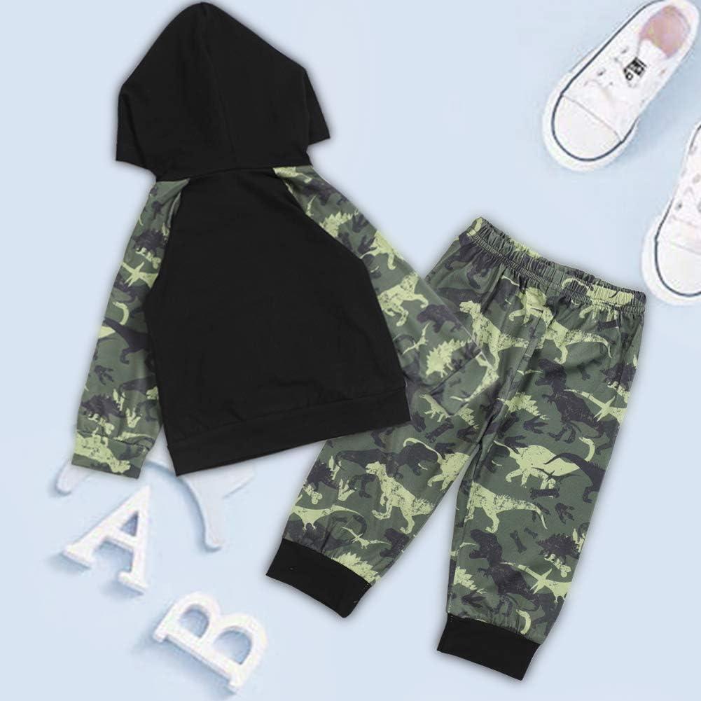 Camisetas De Manga Larga Conjunto De Pantalones De 0-24 Meses Conjunto De Pantalones con Capucha para Ni/ños Y Ni/ñas Ropa De Beb/é para Ni/ños Peque/ños Traje De Ch/ándal De Camuflaje