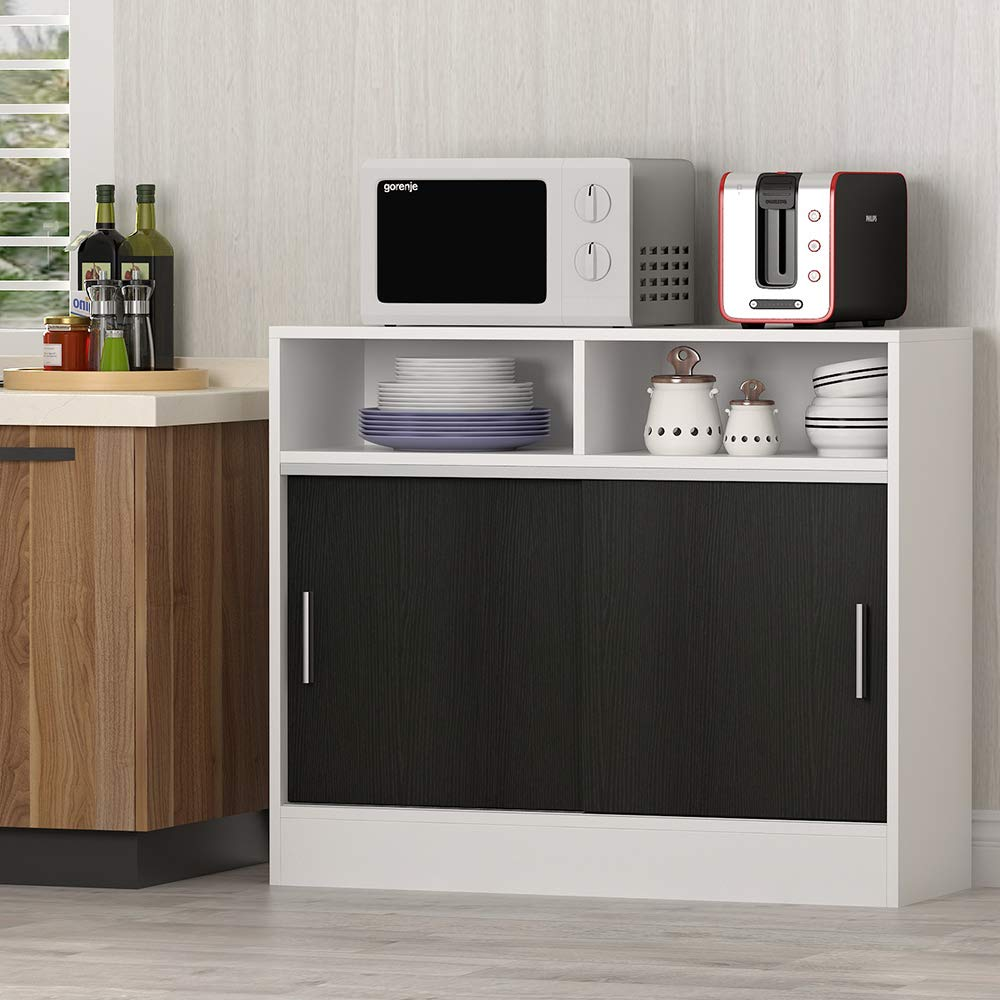 Tribesigns - Mueble de Cocina con Soporte para microondas, Barra de café, aparador, Mesa de Buffet con Puertas correderas para Cocina, Comedor: Amazon.es: Juguetes y juegos