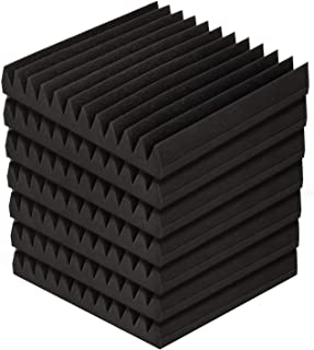 Alpha Acoustic Foam Panels 60pcs Studio Sound Absorption Wedge Tiles Absorber 12-Tooth 30cm x 30cm Insulation Paddings Roo...