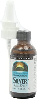 Source Naturals Ultra Colloidal Silver Nasal Spray 10 ppm - Pure, Premium Silver Mineral Supplement - 2 oz