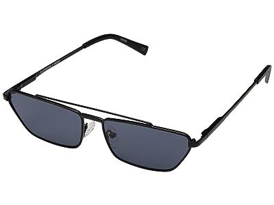 Le Specs Electricool (Matte Black/Ice Fire Revo Mirror) Fashion Sunglasses