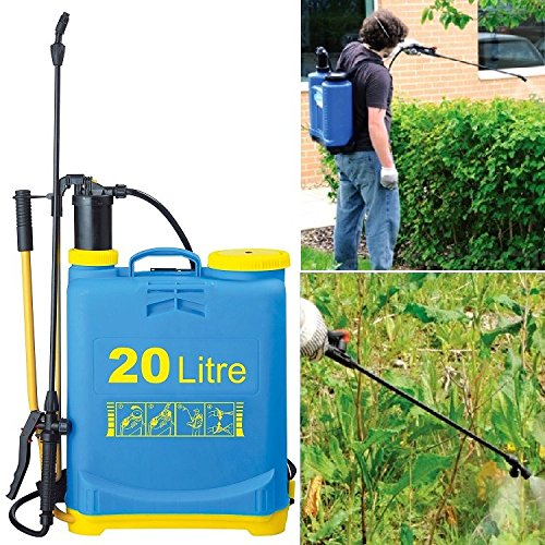 20L GARDEN BACKPACK PRESSURE SPRAYER KNAPSACK WEED KILLER CHEMICAL SPRAYER