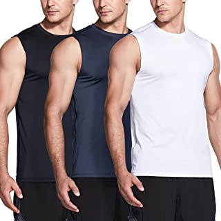 TSLA 1 or 3 Pack Men's Sleeveless Running Tank Top, Performance Athletic Muscle Shirts, Dry Fit Workout Gym Tank Tops