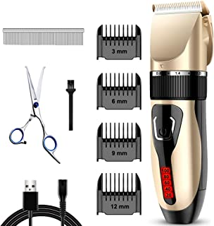 Comsmart Dog Clippers, Upgraded Dog Grooming Clippers Dog...