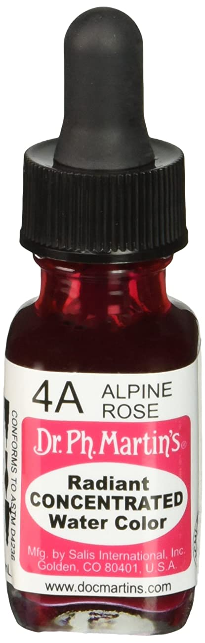 Dr. Ph. Martin's Radiant Concentrated Water Color (4A) Watercolor Bottle, 0.5 oz, Alpine Rose, 1 Bottle