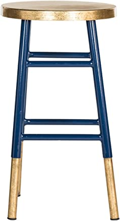 featured product Safavieh Home Collection Emery Navy and Dipped Gold Leaf 24-inch Counter Stool